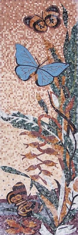 stone mosaic rug