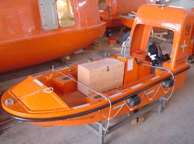 SOLAS approved GRP open life boat with engine for sales