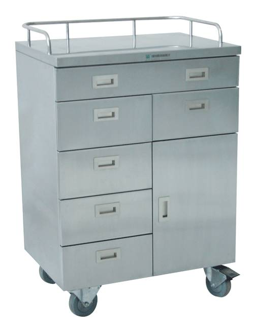 Mobile medication dressing trolley cart RCS-H0M1