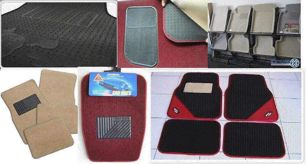Honda Civic Black Nylon Floor Mats Carpet W/ Red Trim + CIVIC Logo