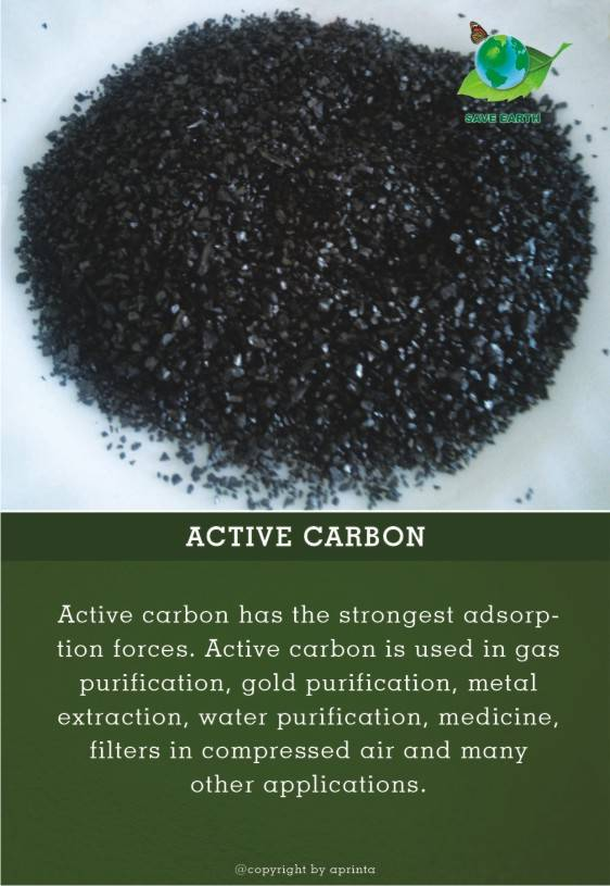 active carbon, charcoal aprinta