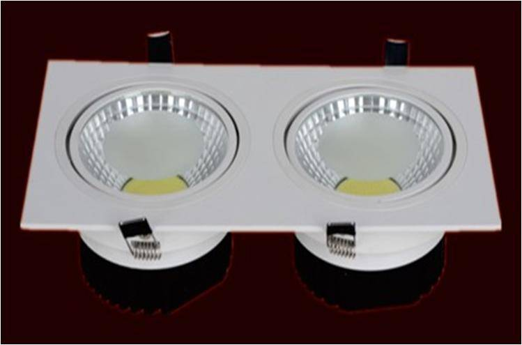 COB LED Downlight Double-ends Square type All white paint shenzhen manufacturer