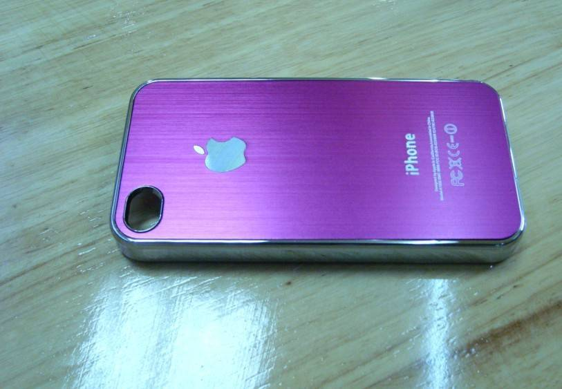high quality brushed metal cell phone case cover,case cover Protective for Phone 4,mobile phone case