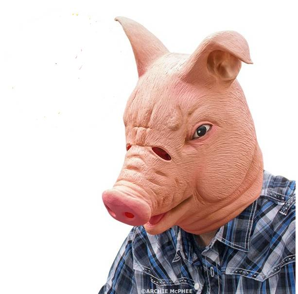 Youtumall Animal Latex Happy Pig Mask Halloween Mask