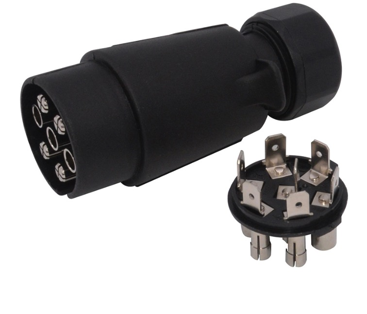 7 pin 24V European Trailer Plug/ Clip Wire Connection
