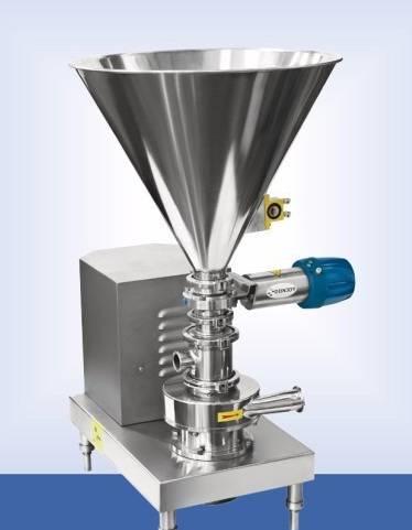 Sanitary stainless steel solid liquid mixing pump blender