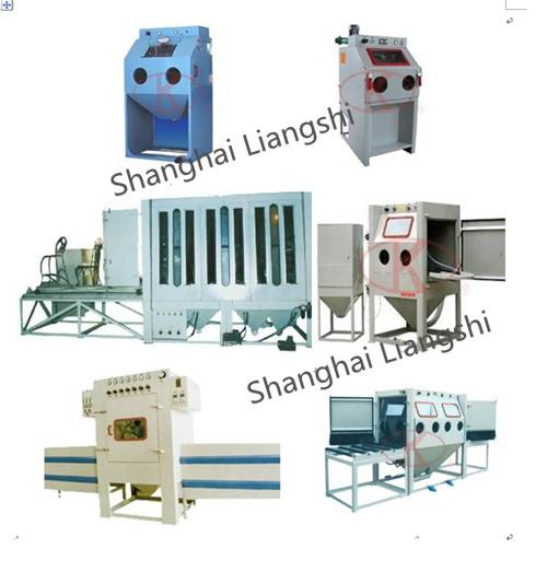 Sand blasting equipment, shot blaster-suction feed dry/wet type