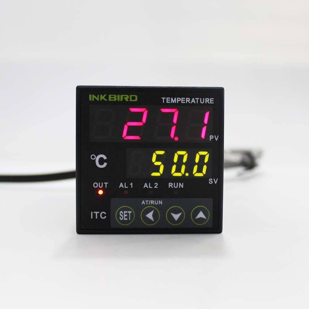 Inkbird Dual Digital PID AC 100-265V Temperature Controller w/ Omron Relay DIN 1/16 ITC-100RH