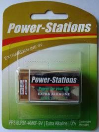 6LR61 alkaline battery 9V