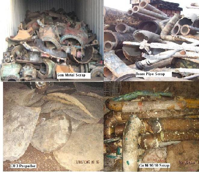 For Sale: Brass, Copper & Bronze Scrap from Scrap Ships