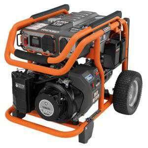 RIDGID 6,800-Watt Yamaha 357 cc Electric Start Idle Down Gasoline Powered Portable Generator