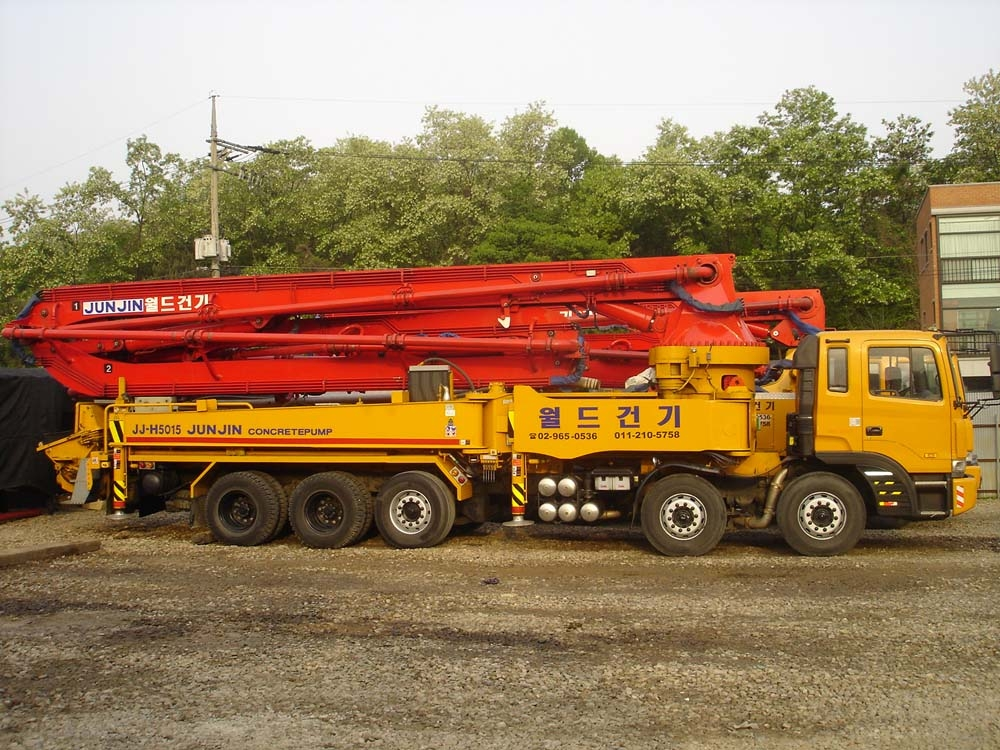 Used truck mounted concrete pump car