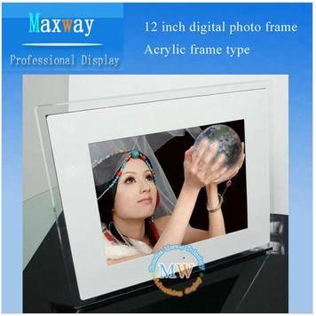 Acrylic frame 12 inch digital photo frame