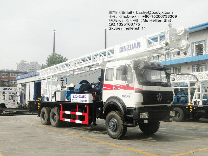 6x6 truck mounted water well drilling rig