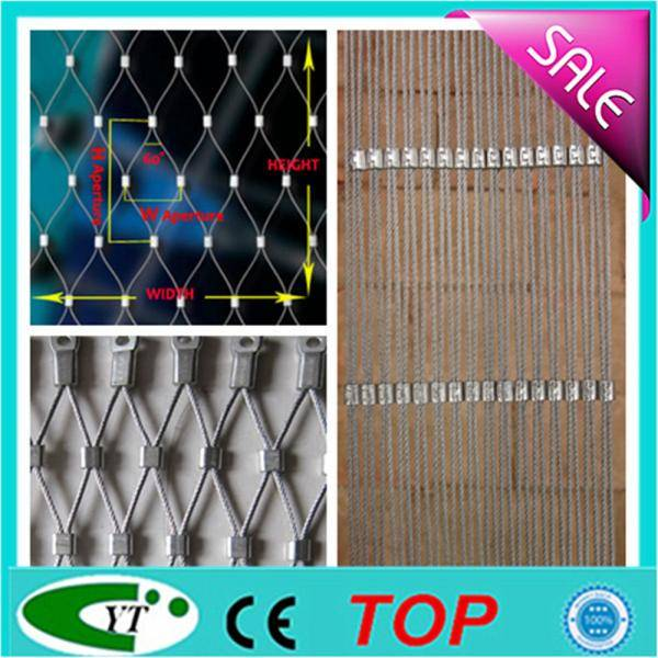 High Tension Hand Woven Stainless Steel Cable Ferruled Mesh