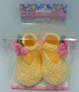 Hand crochet baby shoes wholesale cute handmade crochet knitting baby shoes flower crochet baby