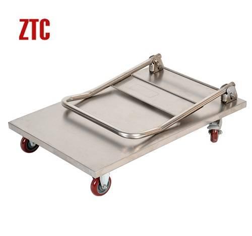 Folding stainless steel material handing platform trucks RCS-FS-011