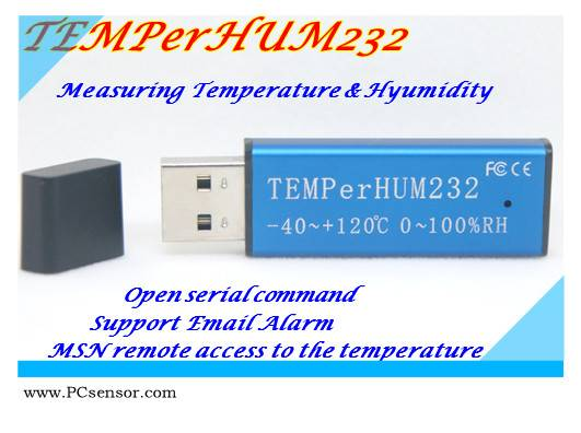 PCsensor computer thermometer,Independent programming ( TEMPerHUM232)