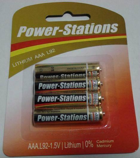 L92 Li-Fes2 battery 1.5V AAA