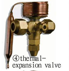 Thermostatic expansion valves for refrigeration system components