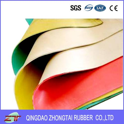 Blur Color Cloth Insertion Rubber Sheet