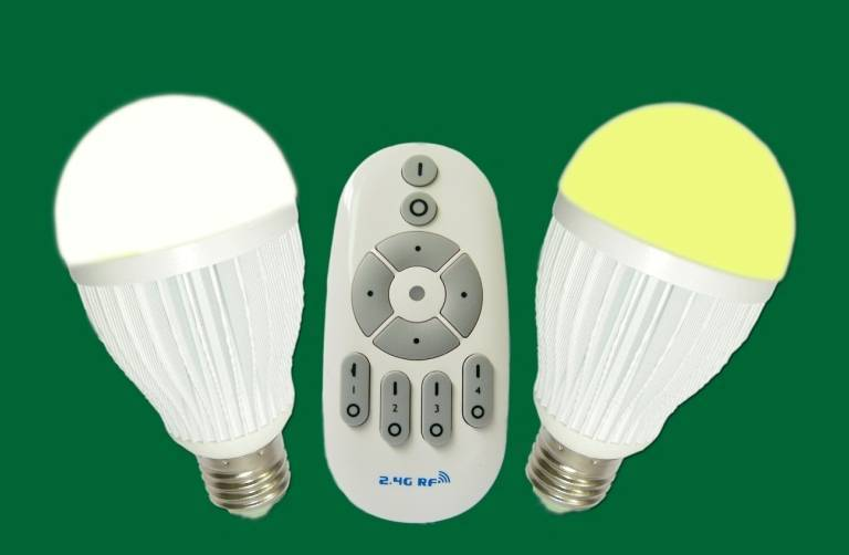 Four way controllable led bulb,color temp adjustable RF Wireless