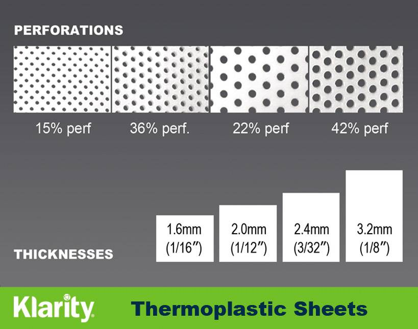 Klarity Thermoplastic Sheets for Radiotherapy masks