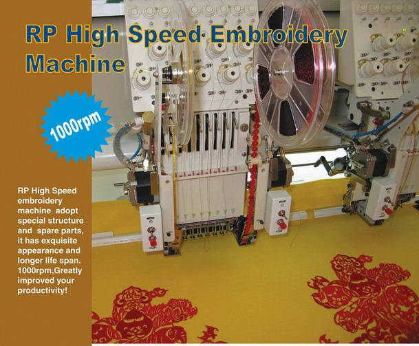 high speed embroidery machinery