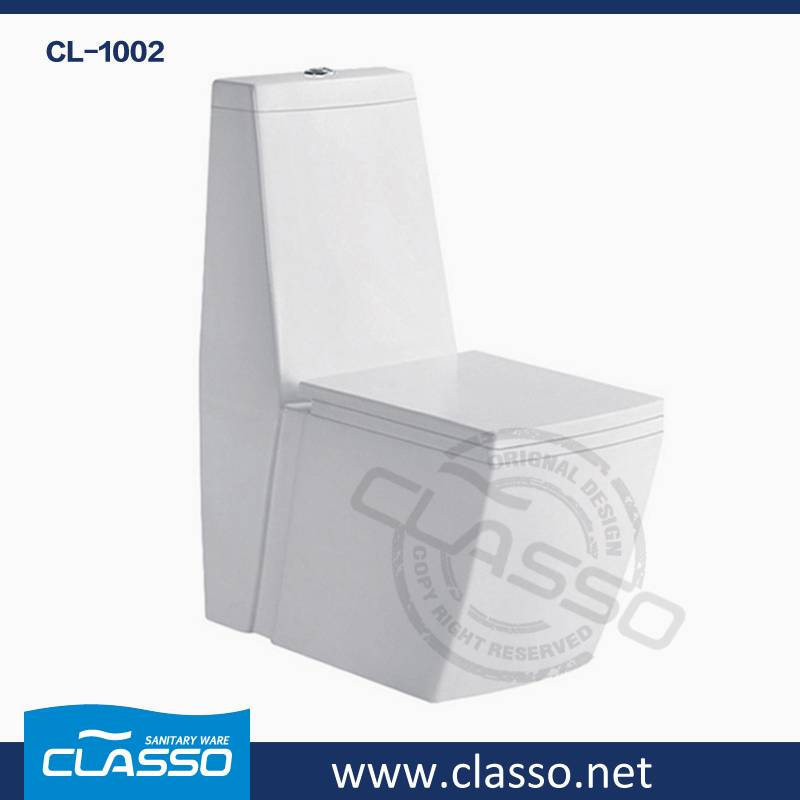Top Hotel Bathroom Ceramic Sanitary Ware washdown toilet 4-inch one piece closet CLASSO CL-1002