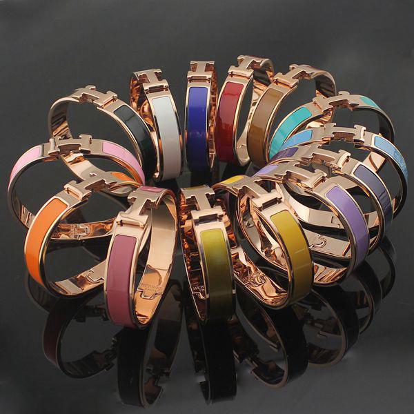 classic h bangle colorful bracelet