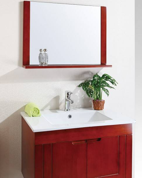 Modern Wall Hang Bathroom Vanity with Mirror