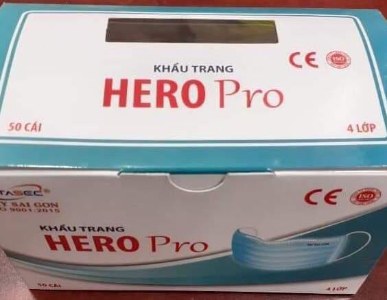 4 LAYERS EAR LOOP MEDICAL MASK - HERO Pro