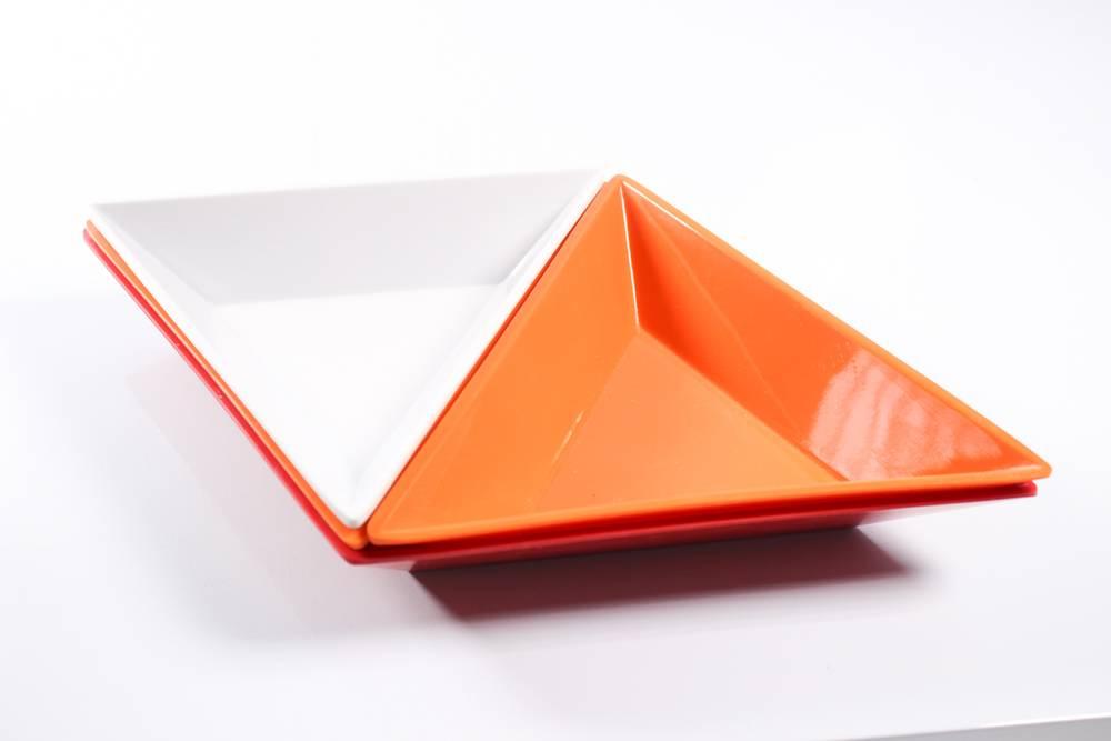 6'' triangle melamine box and 12'' diamond melamine box