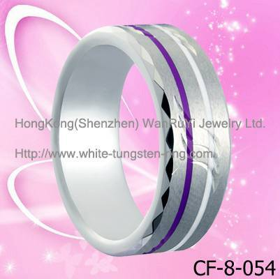 Fashion New Carving Tungsten Ring Band For Men Hot Sales