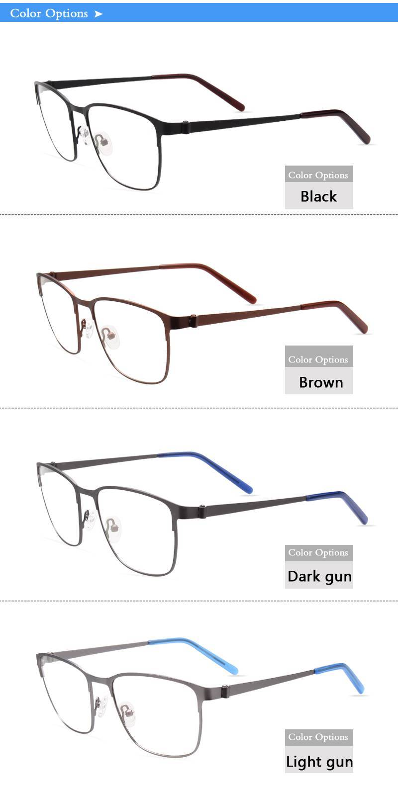 super light weight metal eyeglasses frames ready in stock selling in small MOQ