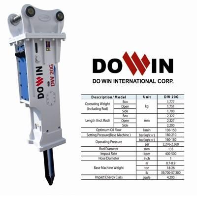 Hydraulic breaker, rock hammer DW 20G Box