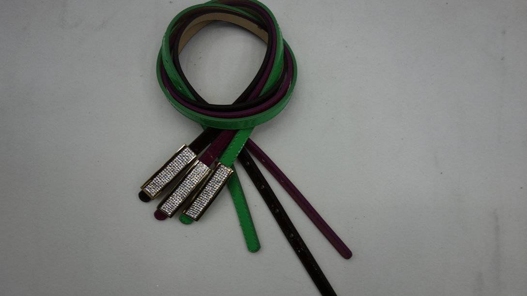 PU leather belt for garment