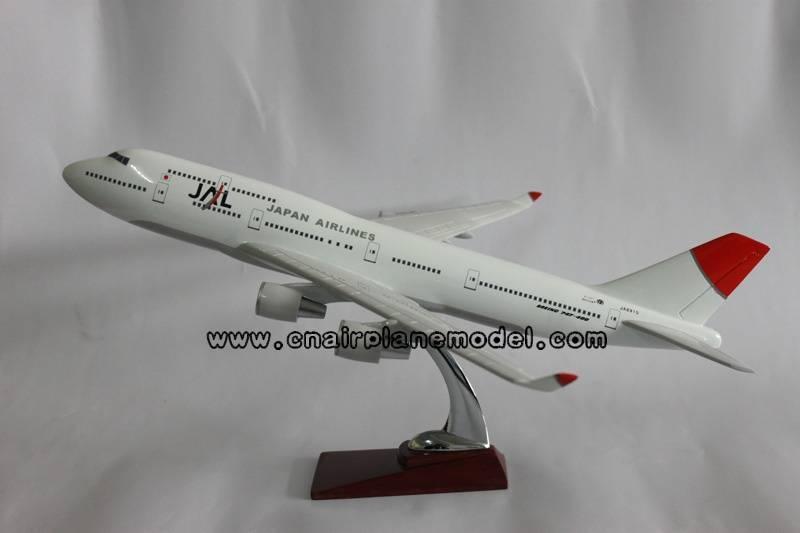 airplane model B747-400 JAL 47cm