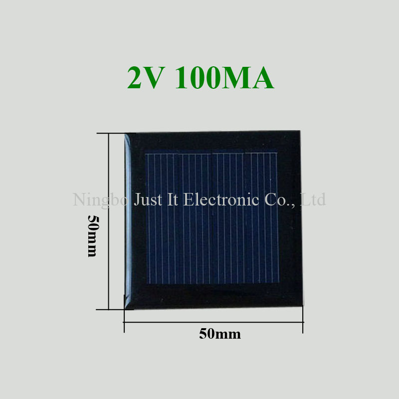 2V 100mA 0.2W 50x50mm Mini Epoxy Solar Panel
