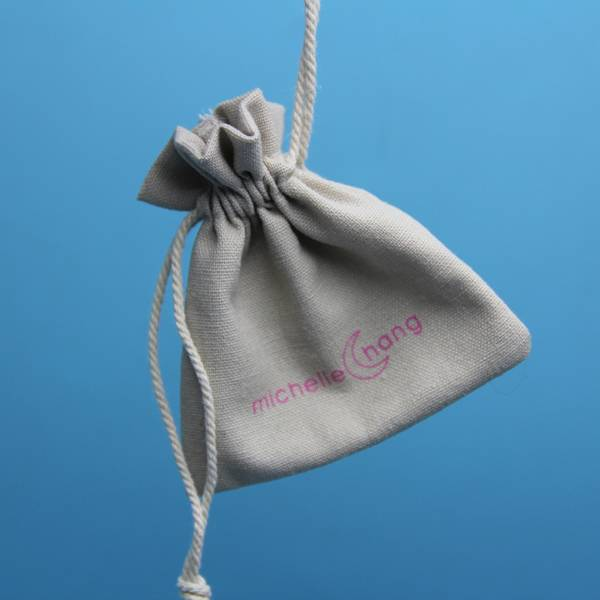 custom made muslin cotton drawstring pouch wholesale