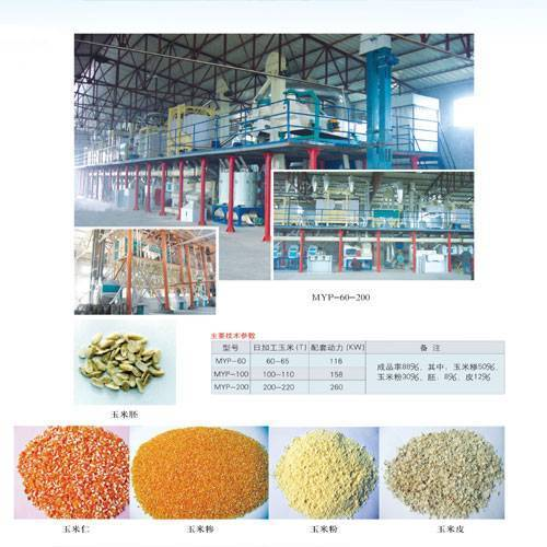 Brief introduction of corn processing complete plant