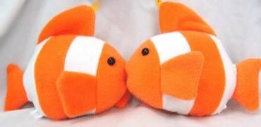 three line fish toy