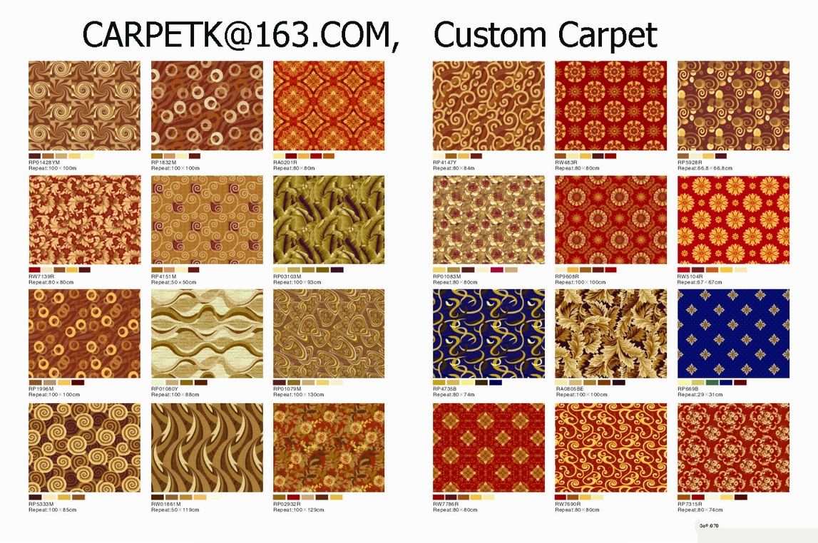 China guestroom carpet, China corridor carpet, China Roll Carpet, China custom wool carpet,