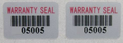 Customizable Warranty Seal