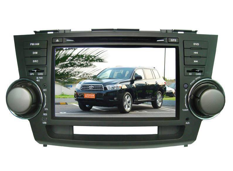 8.0 inch car GPS DVD player for TOYOTA-Highlander