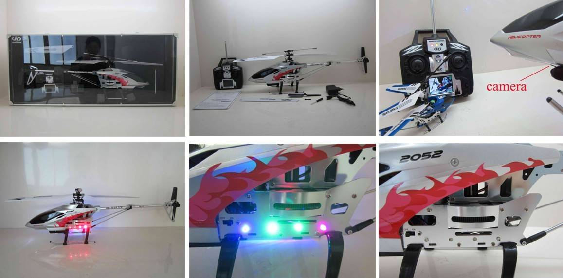 RC 3.5channel Helicopter with Camera with Gyro with 2.4 Inch LCD Live Display Screen Remote Controll