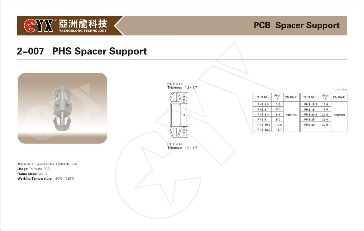 PCB spacer support