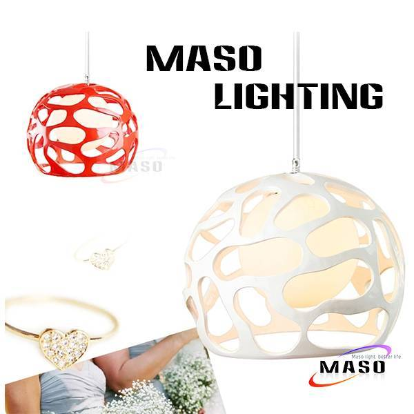 Resin Material and Energy Saving Light Source indoor resin Pendant Lamp chrome finished