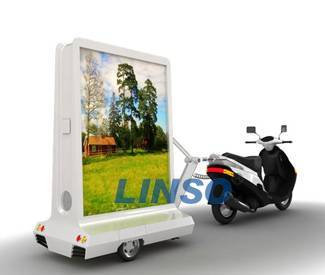 Scooter advertising trailer,light box,mobile light box