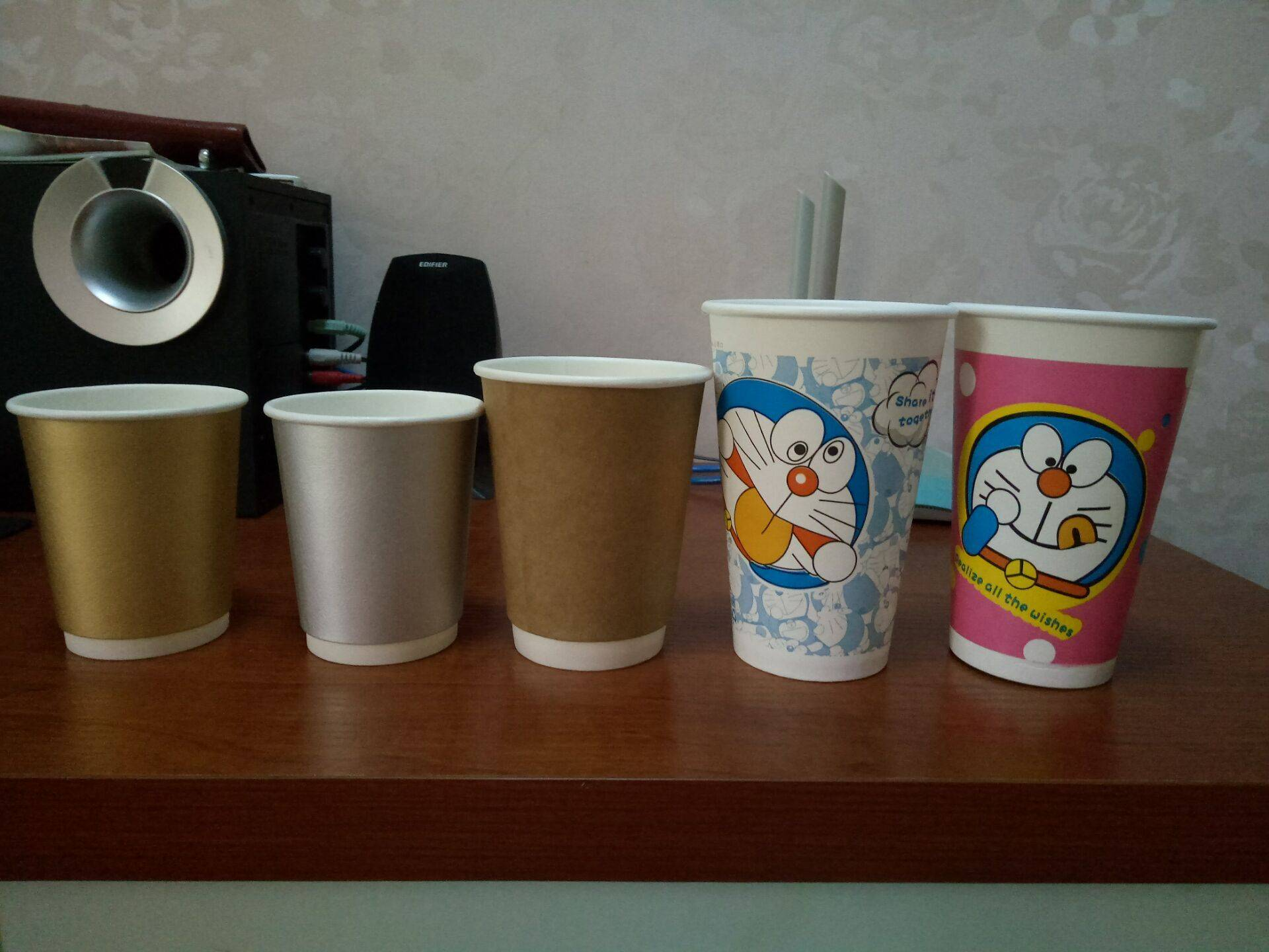 disposable paper cup 3-24oz cusotmized logo for drink